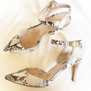 "Louise et cie ""Kota"" faux snakeskin heels"